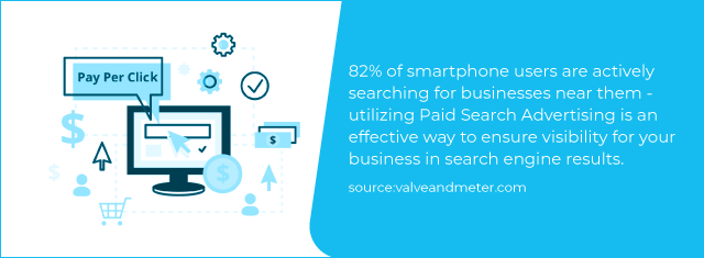 82% of smartphone users are actively searching for businesses near them