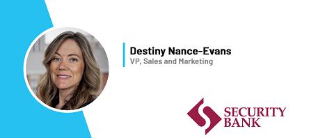 Destiny Nance-Evans, Security Bank