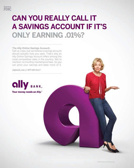 Can you really call it a savings account if it's only earning .01%? Ally Bank ad
