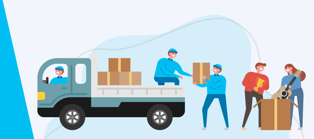 moving truck and movers
